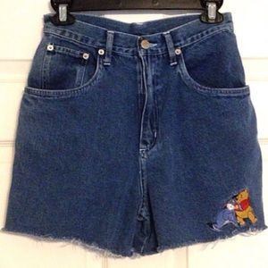 Disney Pooh High Waist Jean Shorts Denim Juniors 5